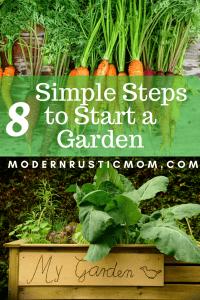 starting a garden, grow vegetables