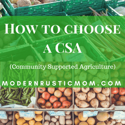 How to Choose a CSA