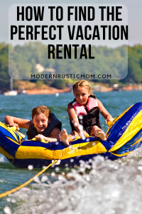 Find vacation rental websites two kids riding tube on water