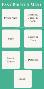 Easy Brunch Menu Cheatsheet