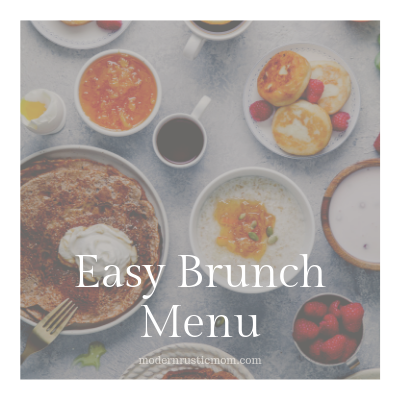 Easy Brunch Menu for a Party
